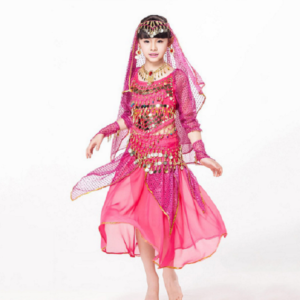 00401childrens-day-belly-dance-indian-child-costume-chiffon-coins-belt-dance-pants-kids-indian-dance-costumes