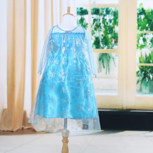 00502high-quality-girls-princess-anna-elsa-cosplay-costume-kids-party-dress