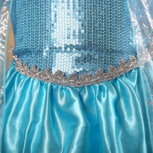 00503-high-quality-girls-princess-anna-elsa-cosplay-costume-kids-party-dress