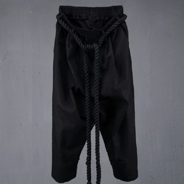 00905men-fashion-punk-big-rock-crotch-pants-male-ankle-length-trousers-vintage-culottes-bloomers-linen-harem-pant-stage-costumes