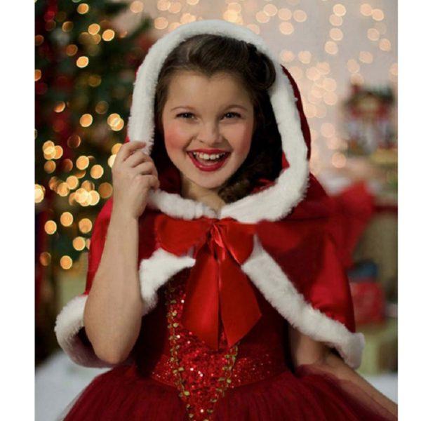 01601christmas-girls-dress-red-blue-princess-costume-with-shawl-girls-dresses-winter-dress