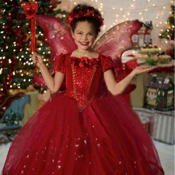 01602christmas-girls-dress-red-blue-princess-costume-with-shawl-girls-dresses-winter-dress