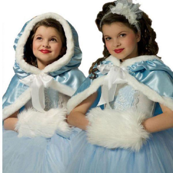 01604christmas-girls-dress-red-blue-princess-costume-with-shawl-girls-dresses-winter-dress