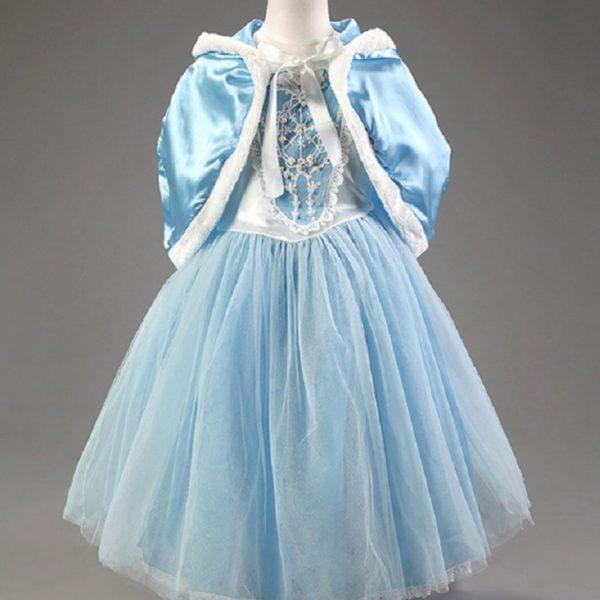 01605christmas-girls-dress-red-blue-princess-costume-with-shawl-girls-dresses-winter-dress