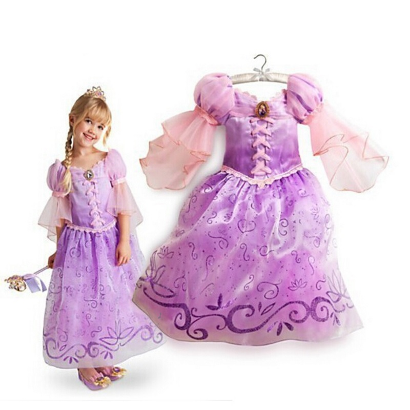 914499d36a0f Children Kids Cosplay Dresses Rapunzel Costume Princess Wear Perform ...