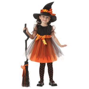 03601-girl-witch-dress-hat-cap-princess-party-dresses-tutu-baby-kids-children-clothing-carnival-halloween-cosplay-costume