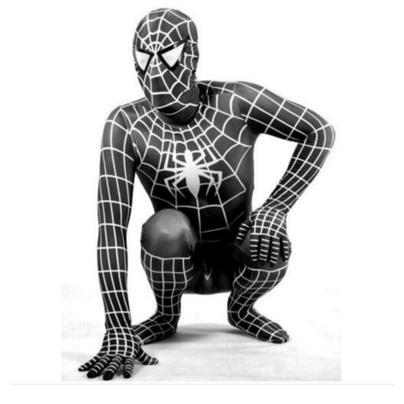 Black Venom Spiderman Costume Adult//Kids Cosplay Spandex Superhero Zentai Suit