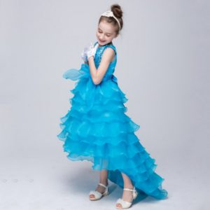 05301 Evening Party Princess Costume Girls Clothes Vestidos Dress Kids Wedding Bridesmaid Children Girls Dress Summer