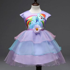 06101-kids-girls-dress-little-pony-spring-girl-short-sleeve-dresses