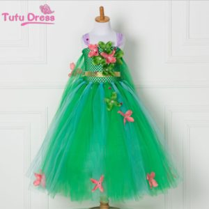 06901-girl-green-princess-flower-dresses-christmas-children-costume