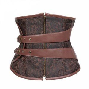 11201-zipper-up-bodysuit-gothic-steel-boned-corsets-bustier-brown-corselet-underbust-slim-bustiers