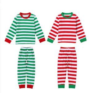 15001-new-years-christmas-pajamas-kids-winter-striped-fashion-long-sleeve-boys-girls-pajamas-sets