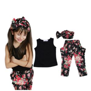 15101-summer-style-girls-fashion-floral-casual-suit-children-clothing-set-sleeveless-outfit-headband-new-kids-clothes-set