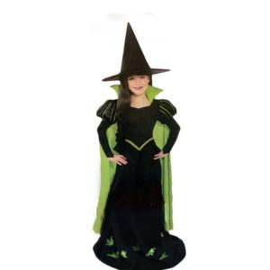 16001-kids-girls-green-witch-costumes-sets-girls-halloween-outfits-include-hat-and-dress