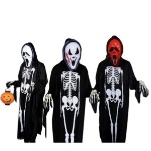 17301-halloween-ghost-scary-costume-mother-daughter-father-son-family-clothing-set-include-mask-jumpsuit-gloves