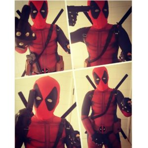 00601Onepiece Cosplay Men Adult Superhero Cosplay Deadpool Costume Halloween Costume Deadpool Cosplay Costume for Kids