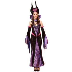 21501-halloween-wicth-costume-queen-dress-dress-cloak-bar-game-cosplay-costume