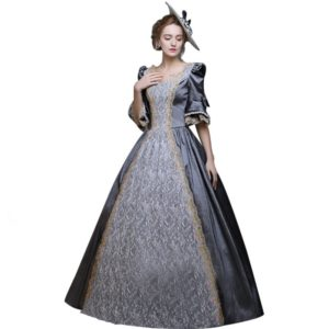 89001 Medieval Renaissance Victorian Dresses Princess Ball Gowns Dresses Masquerade Costumes