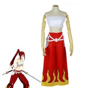 89401 Japanese Anime Halloween Fairy Tail Erza Scarlet Cosplay Costume For Women