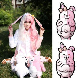 91401 Danganronpa Monomi Cosplay Costume Pink and White