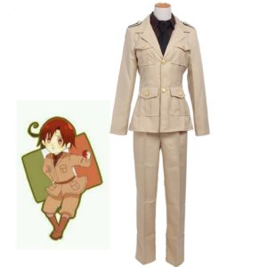 93001 Anime APH Cosplay Costumes Axis powers Ludwig Cosplay Costumes Italy Military Uniform