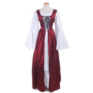 93901 Woman's Renaissance Medieval Gothic Red Long Dresses