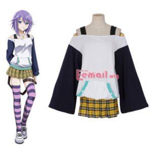 94501 Anime Rosario Vampire Cosplay Mizore Shirayuki Costume