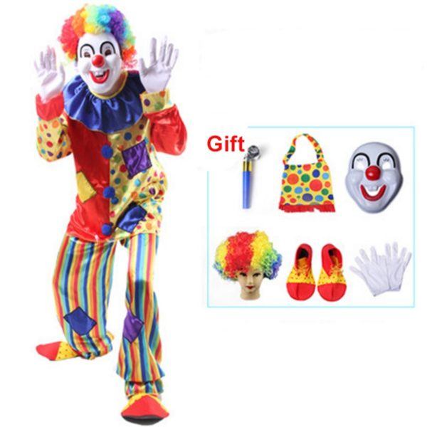 95201 Circus Clown Costume Naughty Harlequin Uniform