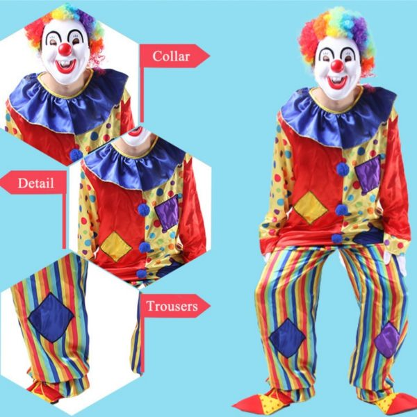 95202 Circus Clown Costume Naughty Harlequin Uniform