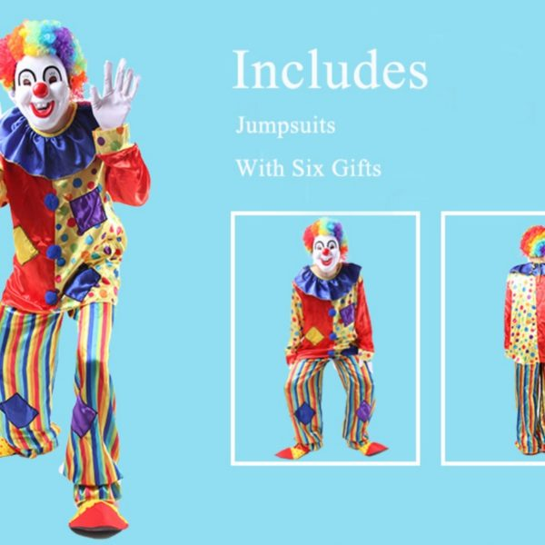 95203 Circus Clown Costume Naughty Harlequin Uniform