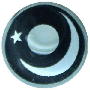 COSTUME COLOR LENS DUEBA COSPLAY LENS BLACK MOON STAR HALLOWEEN CONTACT LENS