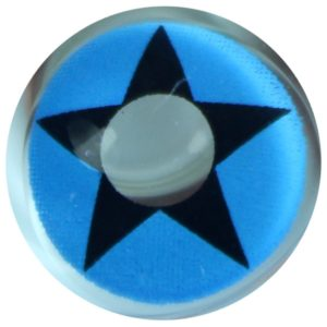 COSTUME COLOR LENS DUEBA COSPLAY LENS BLUE COWBOY STAR HALLOWEEN CONTACT LENS