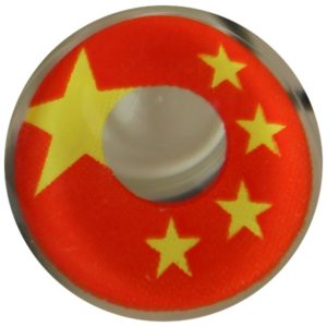 COSTUME COLOR LENS DUEBA COSPLAY LENS CHINA FLAG HALLOWEEN CONTACT LENS