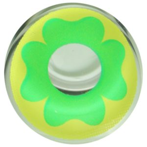 COSTUME COLOR LENS DUEBA COSPLAY LENS GREEN FLOWER YELLOW HALLOWEEN CONTACT LENS