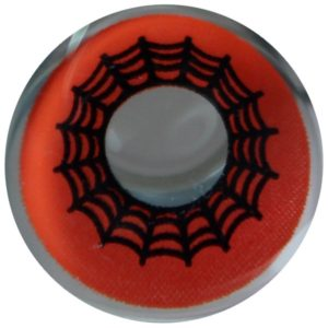 COSTUME COLOR LENS DUEBA COSPLAY LENS RED SPIDER WEB HALLOWEEN CONTACT LENS