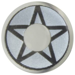 COSTUME COLOR LENS DUEBA COSPLAY LENS VOODOO BLACK STAR WHITE HALLOWEEN CONTACT LENS