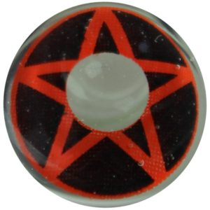 COSTUME COLOR LENS DUEBA COSPLAY LENS VOODOO RED STAR BLACK HALLOWEEN CONTACT LENS