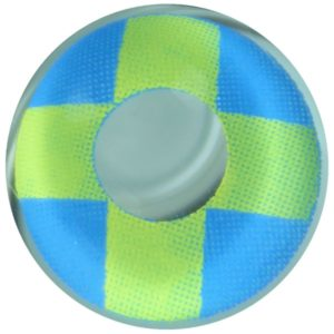 COSTUME COLOR LENS DUEBA COSPLAY LENS YELLOW CROSS BLUE HALLOWEEN CONTACT LENS