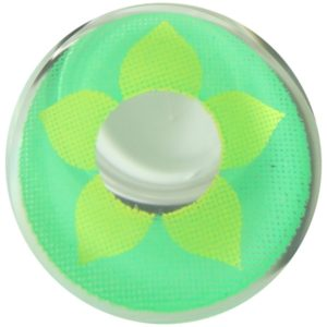 COSTUME COLOR LENS DUEBA COSPLAY LENS YELLOW FLOWER GREEN HALLOWEEN CONTACT LENS