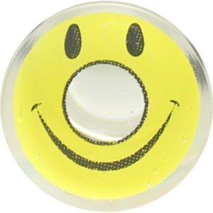 COSTUME COLOR LENS DUEBA CRAZY YELLOW SMILEY HALLOWEEN CONTACT LENS