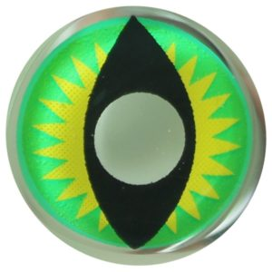 COSTUME COLOR LENS DUEBA FANCY GREEN DRAGON HALLOWEEN CONTACT LENS