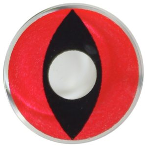 COSTUME COLOR LENS DUEBA FANCY RED CAT HALLOWEEN CONTACT LENS