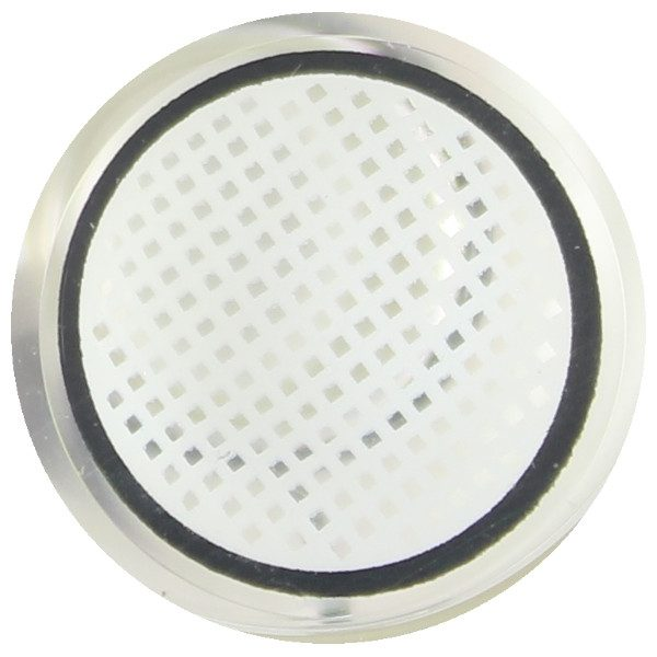COSTUME COLOR LENS DUEBA FANCY WHITE MESH BLACK RIM HALLOWEEN CONTACT LENS