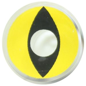 COSTUME COLOR LENS DUEBA FANCY YELLOW CAT HALLOWEEN CONTACT LENS