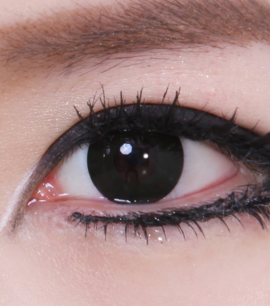 COSTUME COLOR LENS GEO CP-F7 CRAZY LENS SOLID BLACK OUT HALLOWEEN CONTACT LENS