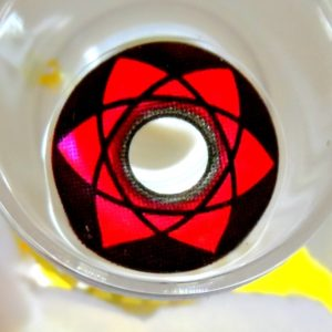 COSTUME COLOR LENS GEO CP-S8 CRAZY LENS NARUTO SASUKE SHARINGAN HALLOWEEN CONTACT LENS