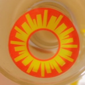 COSTUME COLOR LENS GEO SF-02 CRAZY LENS HOT SUN SPECIAL EFFECT HALLOWEEN CONTACT LENS