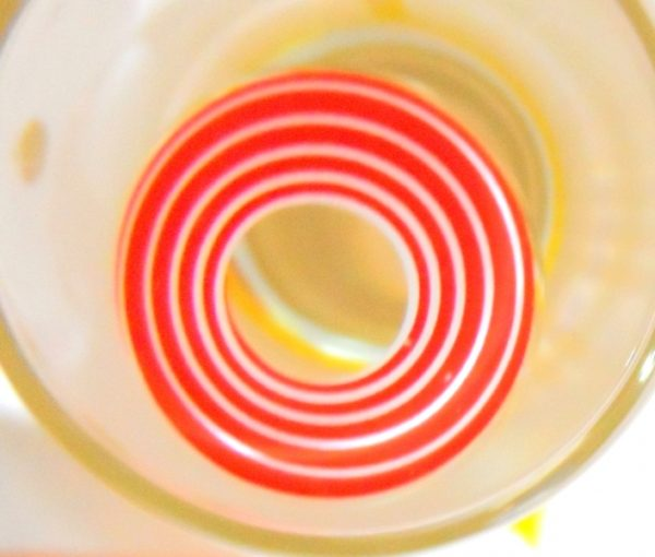 COSTUME COLOR LENS GEO SF-06 CRAZY LENS RED SPIRAL HALLOWEEN CONTACT LENS