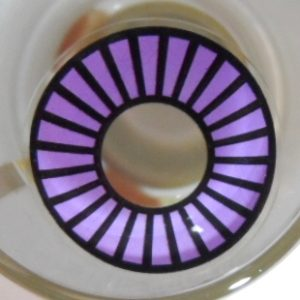 COSTUME COLOR LENS GEO SF-15 CRAZY LENS SPECIAL HYPNOTIC WHEEL VIOLET HALLOWEEN CONTACT LENS