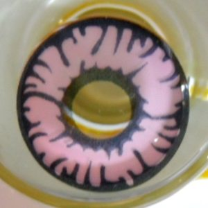 COSTUME COLOR LENS GEO SF-19 CRAZY LENS PINK ANIMATION MARVEL CYBERMANCER HALLOWEEN CONTACT LENS